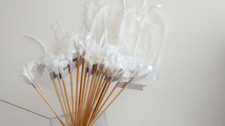 Baguette ruban mariage / Baton ruban mariage personnalisé / décoration originale mariage / baguettes de rubans pour mariage / sortie d'église / sortie de mairie / haie d'honneur - 20443335