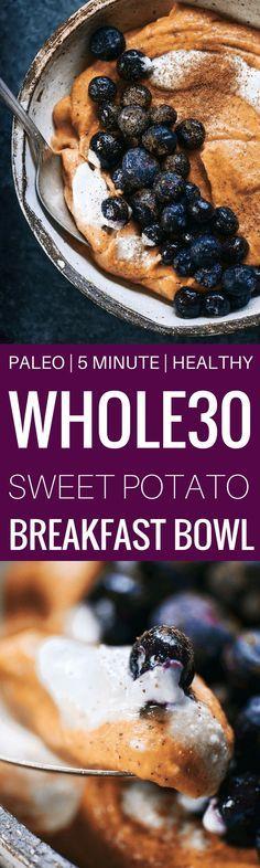 Paleo-Süßkartoffel-Frühstücksschüssel