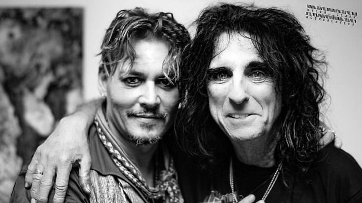 Johnny Depp and Alice Cooper                                                                                                                                                                                 More