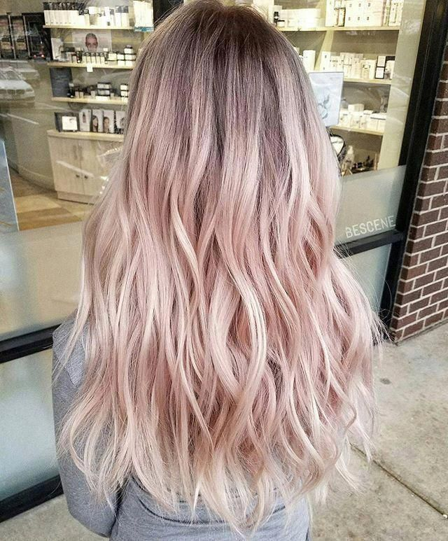 Pastel Pink Hair Trend Pinkombrehair Haircolorbalayage In 2020 Cool Hair Color Pink Hair Highlights Hair Color Pastel