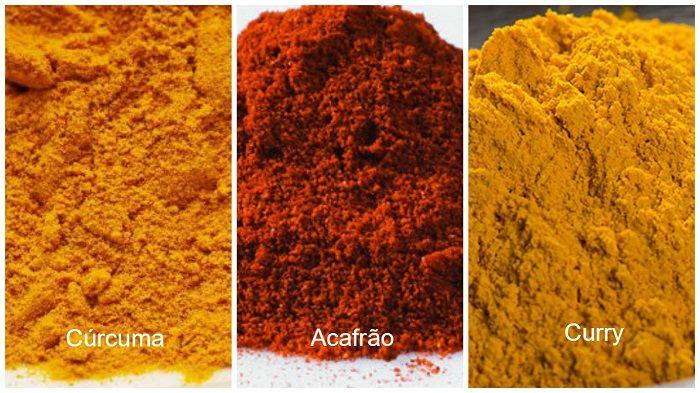 Cúrcuma, curry e açafrão: conheça as principais diferenças entre as especiarias e descubra os benefícios que proporcionam ao nosso organismo.
