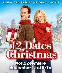 ABC Family - 12 Dates of Christmas - GREAT holiday movie!  12 Dates of Christmas is a romantic comedy that follows Kate (Amy Smart), a young woman who re-lives the same first date on Christmas Eve over and over again.