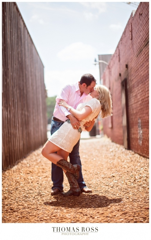 Aggie Couple in Bottle Cap Alley on Northgate, College Station, TX