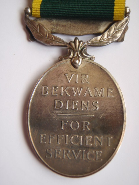 George VI South African Territorial Efficiency Medal - South African Air Force