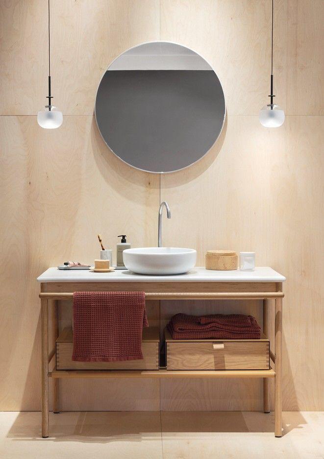 Bm Trendtipp Holz Ist Wellness In 2020 Runde Badezimmerspiegel Handtuchhalter Holz Holzfarben