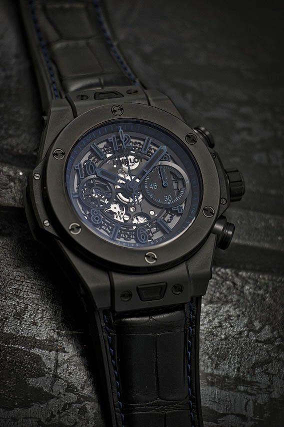 Hublot Big Bang Unico All Black blue boutique exclusive