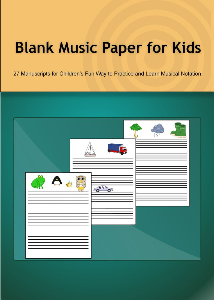 What Is the Blank Music Paper? - Little Music Lessons for Kids