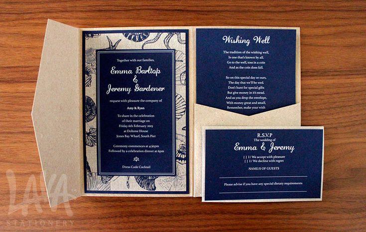 iFlap pocket invitation by www.lavastationery.com.au