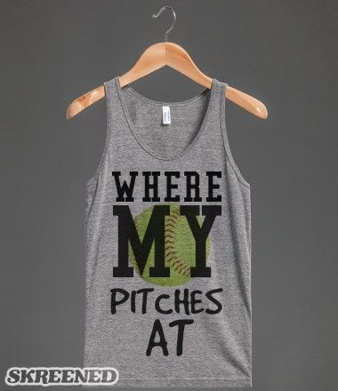 Where are the pitches Softball tank top tee t shirt