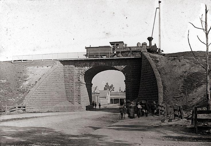 Peel St. railway bridge Ballarat 1800s