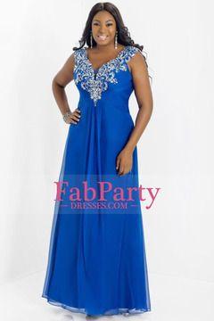 2014 Graceful Prom Dress V Neck Off The Shoulder Chiffon Floor Length Beaded&Ruffled USD 169.99 FPP5RR2AP1 - FabPartyDresses.com