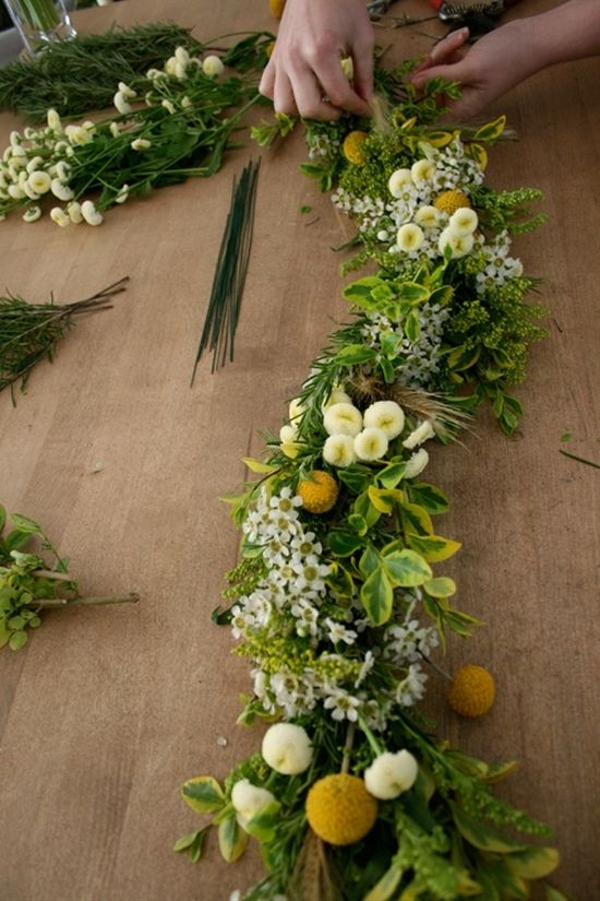 DIY fresh floral garland tutorial - for swags or garlands - Click image to find more Home Decor Pinterest pins