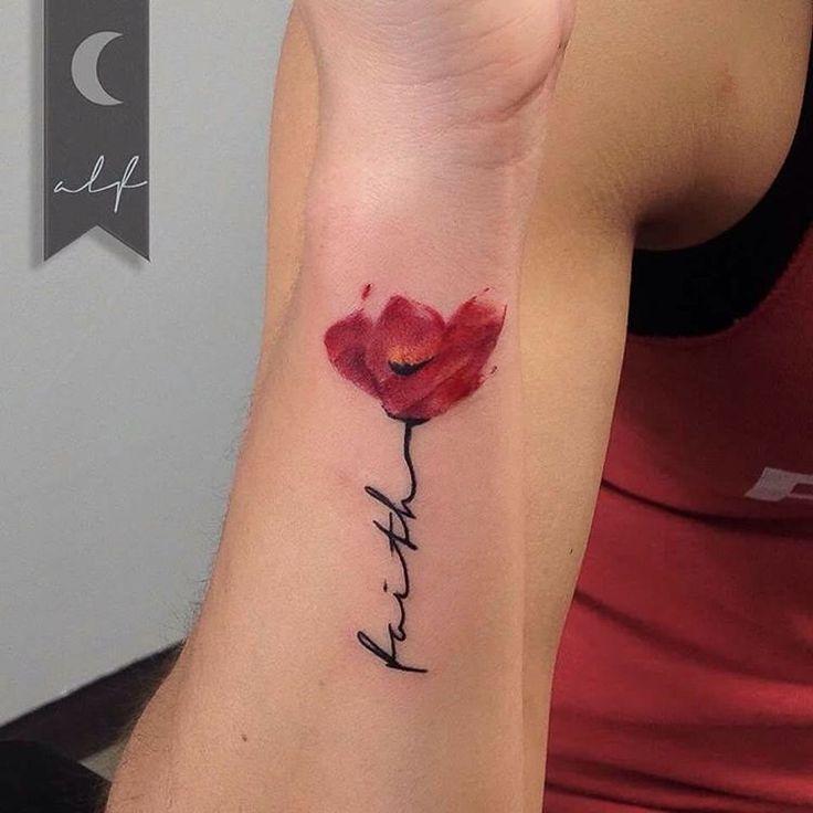 Frase: Faith y Flor - Tatuajes para Mujeres. Encuentra esta muchas ideas mas de Tattoos. Miles de imágenes y fotos día a día. Seguinos en Facebook.com/TatuajesParaMujeres!