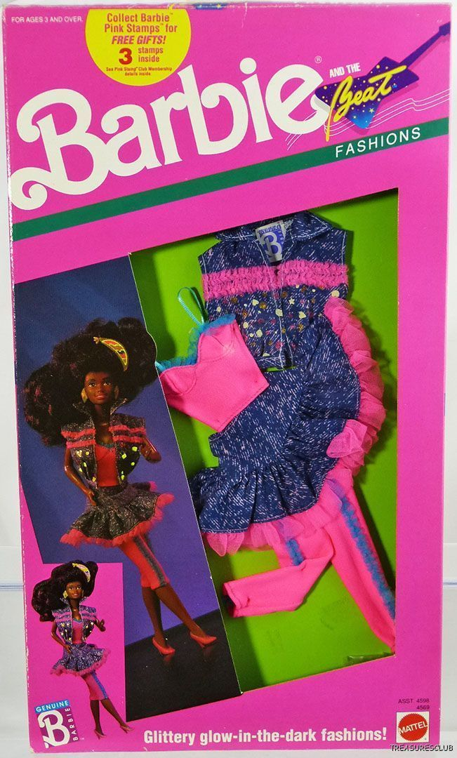 Barbie and The Beat Fashions #4569 New Never Removed from Pack 1990 Mattel 3+ | eBay