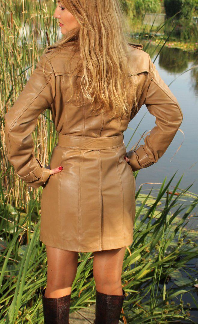 Trenchcoat Echtleder Eleganter aus aus Mantel Leder 31cKlFTJ
