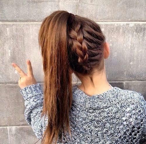 1000 id es sur le th me coiffures queues de cheval sur pinterest coiffures coiffures de queue - Tresse queue de cheval ...