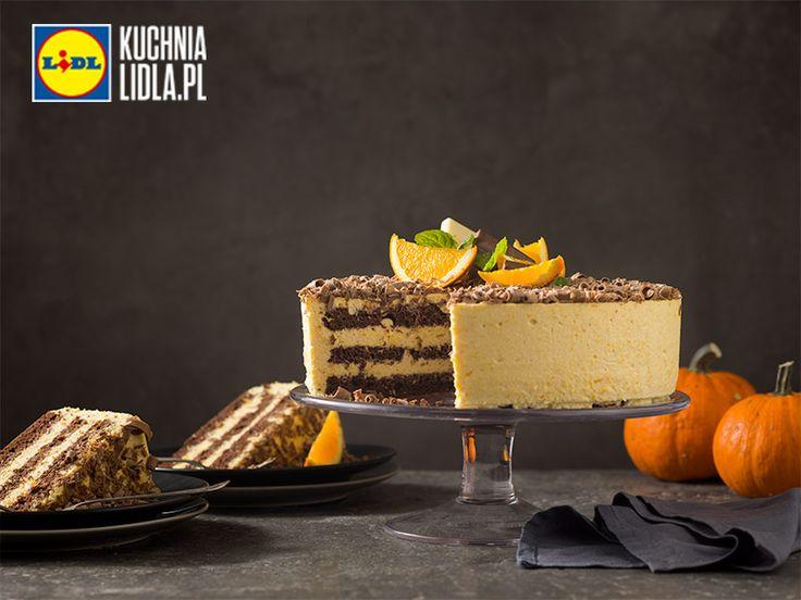 Tort dyniowo-pomarańczowy. Kuchnia Lidla - Lidl Polska. #pawel #tort #dynia #pomarancza