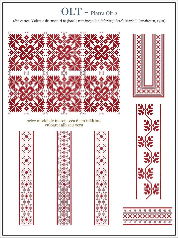 Romanian motifs - Olt 1910