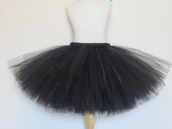 Black Tutu Skirt Solid Baby Toddler Adult Teen by AmericanBlossoms, $26.00