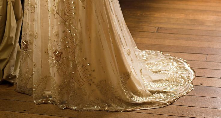 39 downton abbey 39 lady rose wedding gown detail