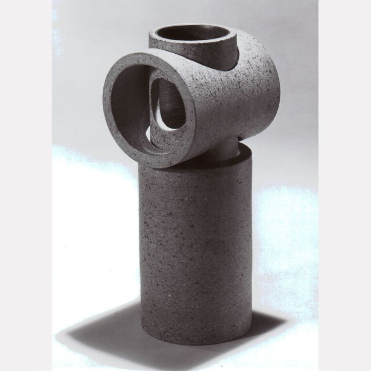 Gordon Orear  1968 Interlocking Cylinders Sculpture, Unglazed The Forrest L. Merrill Collection, Dane Cloutier Archives