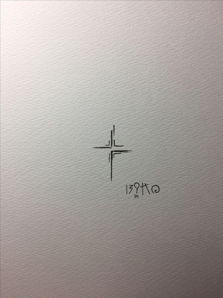doodle & line cross / #tattoo #doodle #doodletattoo #line #linetattoo