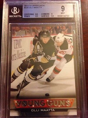 nice 2013-14 UPPER DECK OLLI MAATTA YOUNG GUNS #220 ROOKIE BGS 9.0 RC - For Sale View more at http://shipperscentral.com/wp/product/2013-14-upper-deck-olli-maatta-young-guns-220-rookie-bgs-9-0-rc-for-sale/