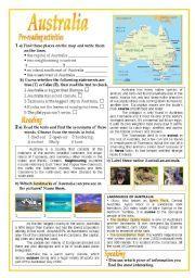 English teaching worksheets: Australia