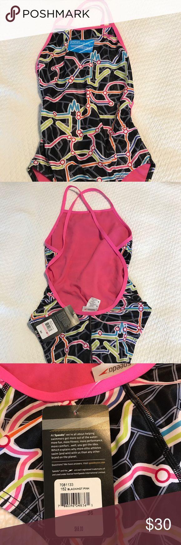 NWT speedo training suit. Fun print! NWT speedo training suit. Fun print! Speedo Swim One Pieces