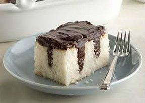 Weight Watchers Friendly Chocolate Pudding Poke Cake