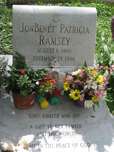 JonBenet Ramsey grave .. still an unsolved murder.  Saint James Episcopal Cemetery, Marietta, Cobb, Georgia