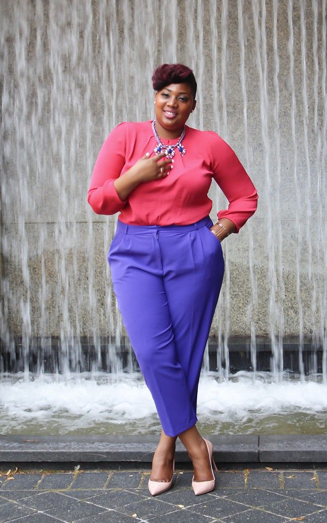 i love the color combo | Fashion, Work outfit, Curvy girl ...