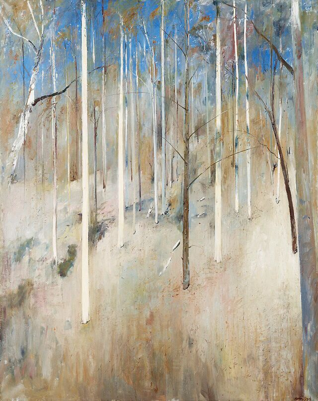 Arthur Boyd (Australian, 1920-1999), Hillside (Shoalhaven), 1976. Canvas, 152 x 122 cm.