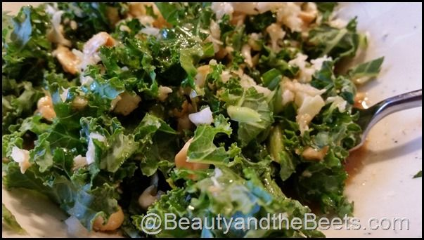 Based on Houston's Kale Salad. A delicious way to add some kale into your life! Houston's Kale Salad with Peanut Dressing