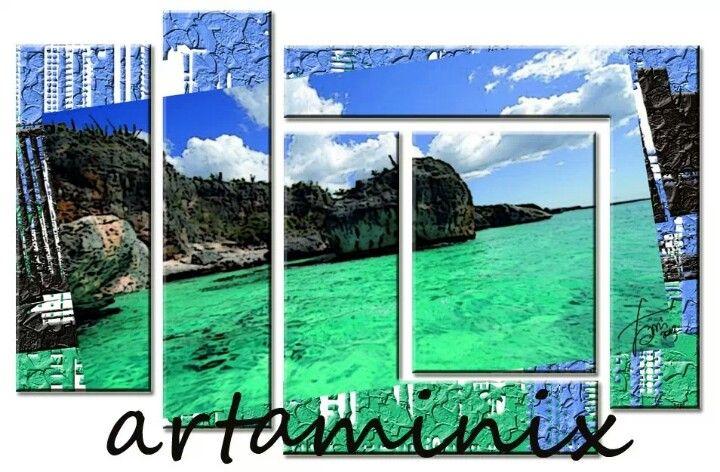 Landscapes paint #sea #heaven #arredo #design #paesaggio #arte #modern