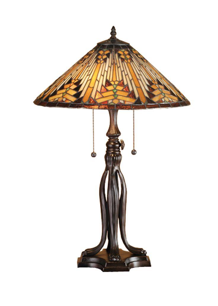 Art Noveau Western Table Lamp - Southwestern Table Lamps