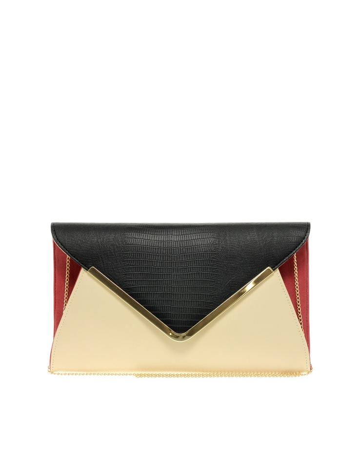 New Look Parker Envelope Clutch