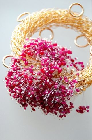 Sarah Keay knitted jewelry
