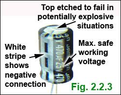 Electrolytic Capacitor Markings