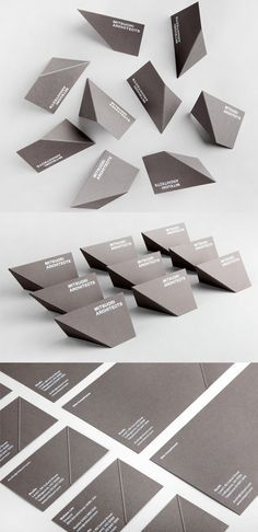 Clever Business Card For An Architect Becomes 3D With Just One Fold