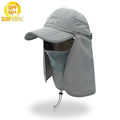 Sun Cap Fishing Hat For Men Women, UPF 50+ UV Sun Protection With Removable Neck Flap, Face Cover Mask & Windproof Strip, Sun Hat for Outdoor Sports & Travel  https://fishingrodsreelsandgear.com/product/sun-cap-fishing-hat-for-men-women-upf-50-uv-sun-protection-with-removable-neck-flap-face-cover-mask-windproof-strip-sun-hat-for-outdoor-sports-travel/  ✅ONE SIZE FITS MOST: Unisex Sun Hat with neck protection for men and women can be adjustable by buckle, the head ci