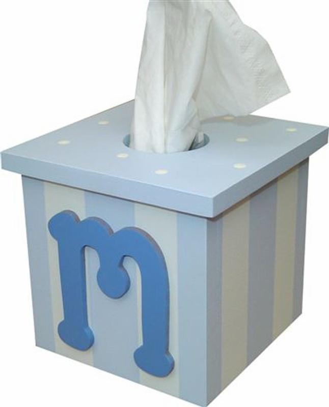 boy initial tissue box cover