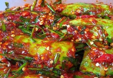 pepino kimchi
