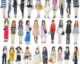 35 Planner Sticker-Filofax Stickers Women Luxury by SoulSticker