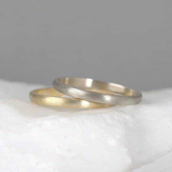 2mm 14 K Gold Eheringe-Herren oder von EngagedJewelry auf Etsy