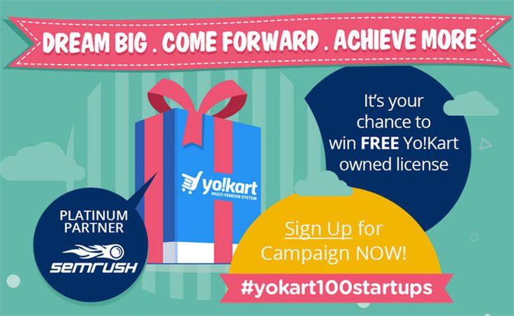 Mega Event #YoKart100startups Giving birth to 100 #eCommerce #startups for FREE