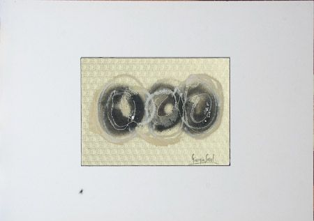 The circle, the order and the disorder Tempera, enamel on laminated cardboard, 2005, 24x18 cm