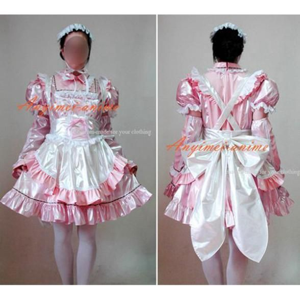 >> Click to Buy << Free Shipping Sexy Sissy Maid Pvc Lockable Dress Uniform Cosplay Costume Tailor-made #Affiliate