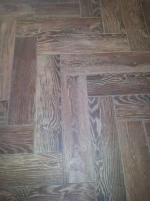 Shop Style Selections Natural Timber Cinnamon Glazed Porcelain  Indoor/Outdoor Floor Tile (Common: X Actual