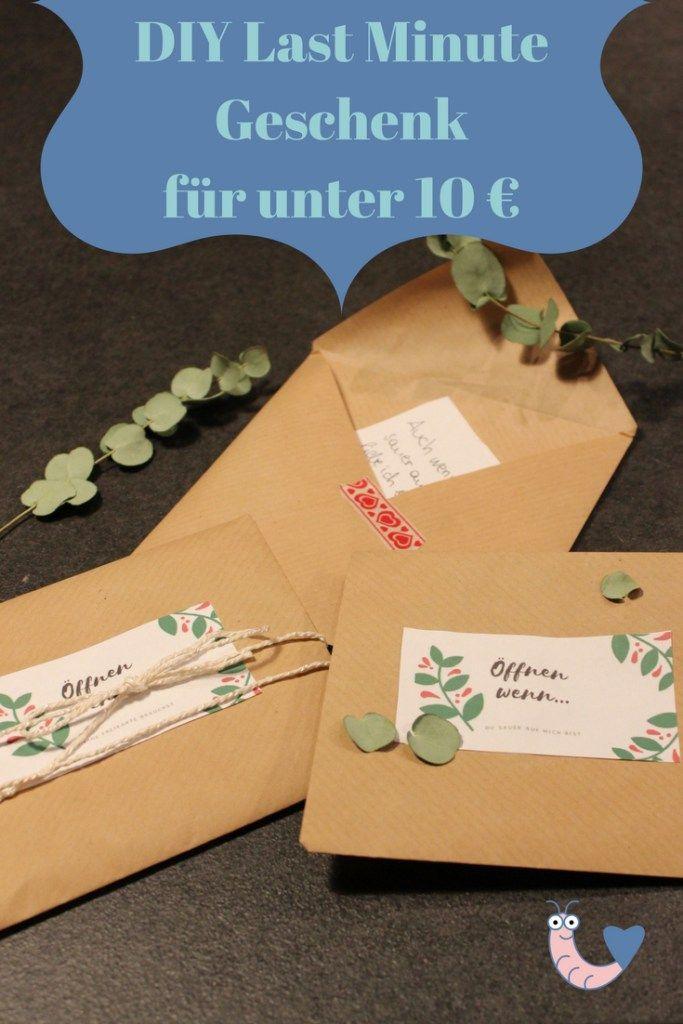 Diy Last Minute Geschenk Für Unter 10 Rund Ums Familienleben Diy